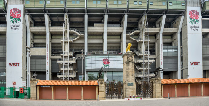Twickenham,London, England - July 20, 2016: Twickenham Stadium is primarily a venue for rugby union and hosts England's home test matches, the Middlesex Sevens the Aviva Premiership final the LV Cup,European Champions Final matches and is the headquarters of the English Rugby Football Union