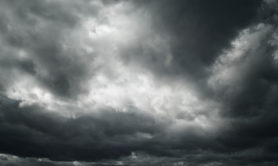 Black and white dangerous stormy dramatic cloudscape sky background...
