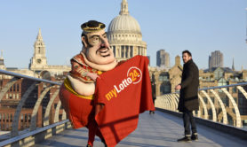 Londoners were given a big fat surprise as a super-sized Spanish matador, dubbed 'The Fat-ador', appeared in the capital to announce that Brits can now bet on  'El Gordo' - the world's biggest annual lottery taking place on Friday 22nd December.    The larger than life matador activity spreads the message that Brits can also get their hands on the record-breaking jackpot, by betting on the outcome of the lottery with myLotto24.co.uk.