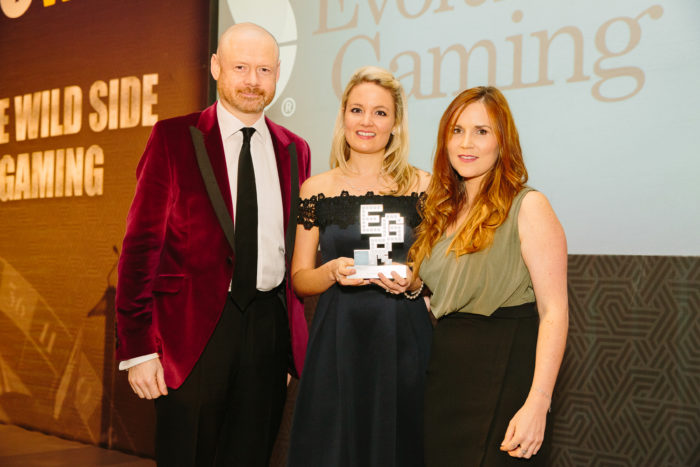 EGR Nordics Awards 2018 Casino Content Supplier, Evolution Gaming