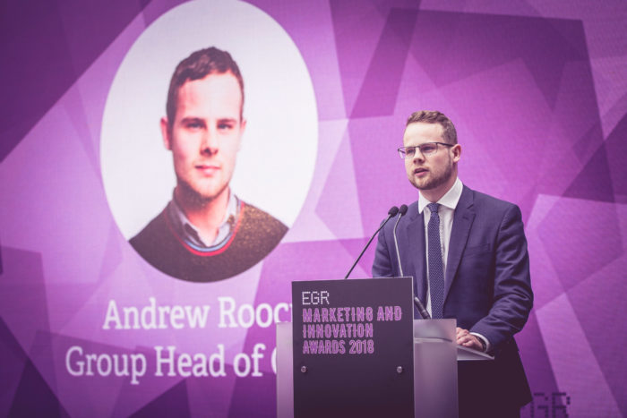 EGR Group Head of Content, Andy Roocroft Marketing & Innovation Awards