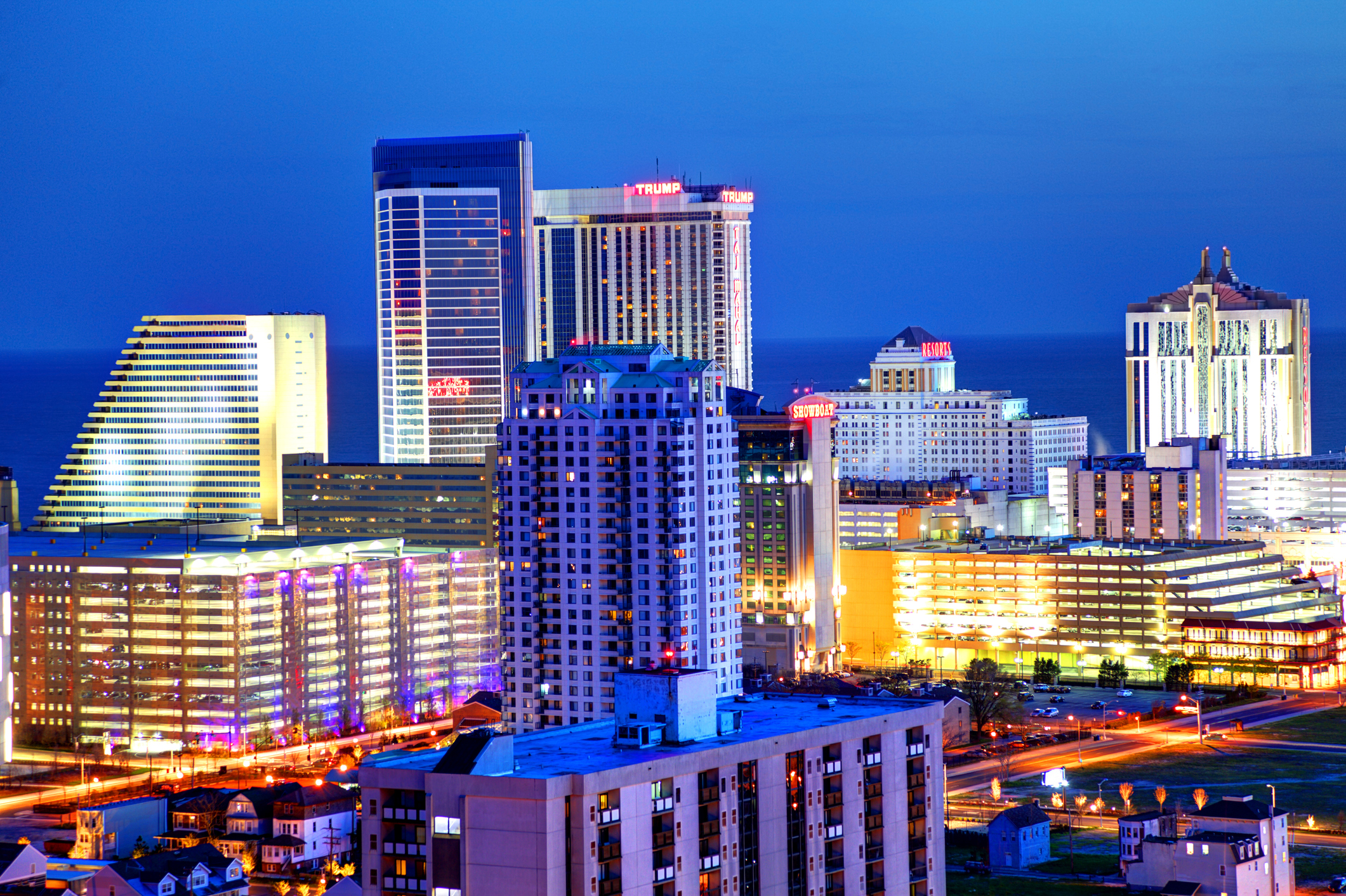 Atlantic City located on the Jersey shore is a resort city on Absecon Island in Atlantic County, New Jersey. Atlantic City is known for its two mile long boardwalk, gambling casinos, great nightlife, beautiful beaches, and the Miss America Pageant