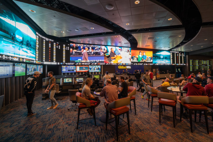 William Hill's sportsbook at The STRAT