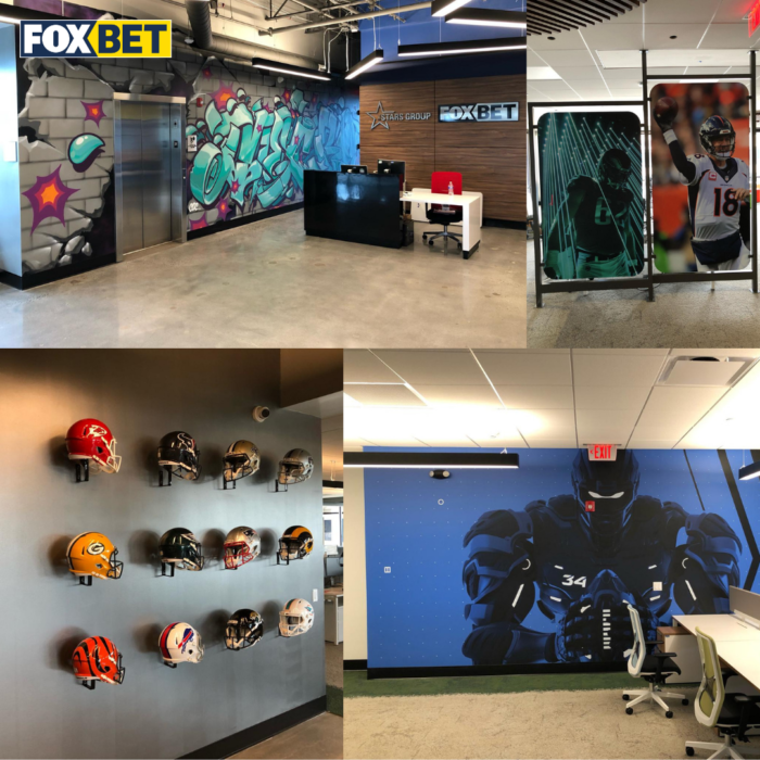Fox Bet just refurbished its Cherry Hill office in New Jersey head of its upcoming launch in the state